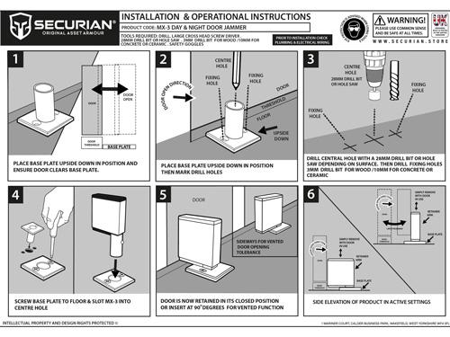 dual position door jammer installation