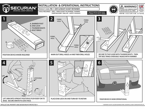 installation of parking bollard